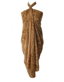 Sarong excellent xl bruin, bruine sarong extra groot, pareo bruin groot, grote pareo kopen,